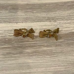 Vintage Gold Earrings With Clips